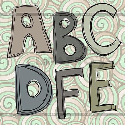 ABCDEF 낙서 편지 | 벡터 클립 아트 |ID 3044710