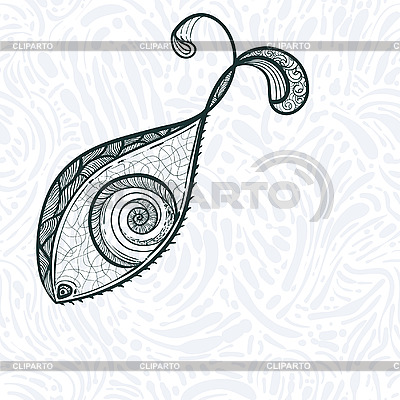 Auge in Form eines Fisches | Stock Vektorgrafik |ID 3044821