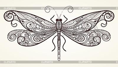 Libelle mit einzigartigem Muster | Stock Vektorgrafik |ID 3044987