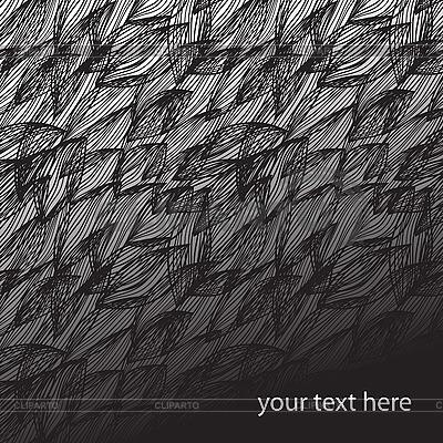 Nahtloses Muster mit schwarzen Blättern | Stock Vektorgrafik |ID 3065608