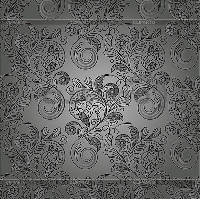 Bezszwowe tle kwiatów monochromatyczny | Klipart wektorowy |ID 3079141