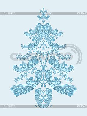Weihnachtsbaum aus Paisley-Mustern | Stock Vektorgrafik |ID 3082558