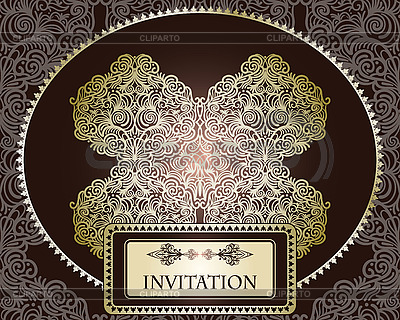 Szablon zaproszenie na szwu | Klipart wektorowy |ID 3112140