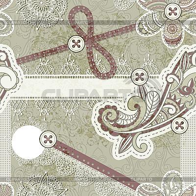 Scrap-Design im Vintage-Stil | Illustration mit hoher Auflösung |ID 3148506