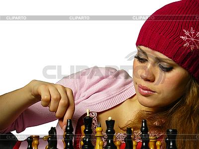 Mädchen spielt Schach | Foto mit hoher Auflösung |ID 3047598