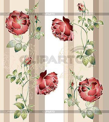 Kwiat tła z róż | Klipart wektorowy |ID 3050395