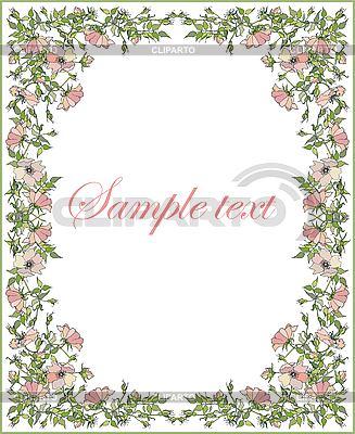 Schöne Grußkarte mit Blumen-Rahmen | Stock Vektorgrafik |ID 3070947