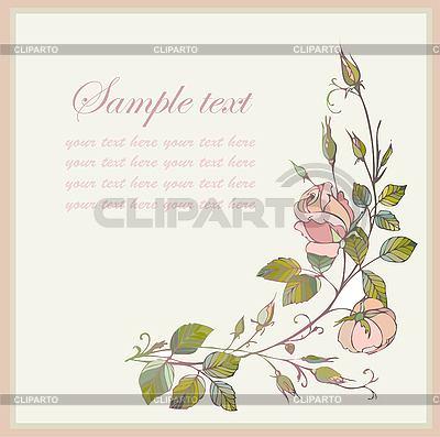 Kartkę z życzeniami z różą | Klipart wektorowy |ID 3071348