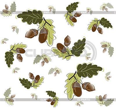 Jesienią tła z żołędzi | Klipart wektorowy |ID 3071374