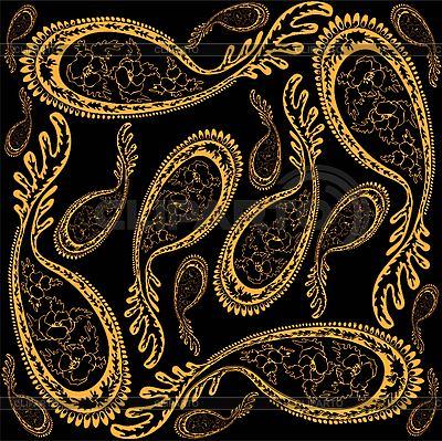 Tło z ozdoba paisley | Klipart wektorowy |ID 3071440