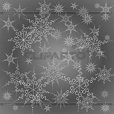 Tła z pięknym płatki śniegu | Klipart wektorowy |ID 3071462