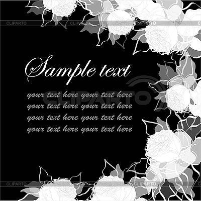 Dekoracyjne karty z róż | Klipart wektorowy |ID 3073634