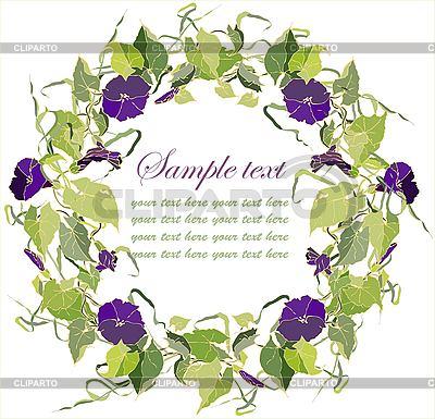 Schöner dekorativer runder Rahmen mit Blumen | Stock Vektorgrafik |ID 3073811
