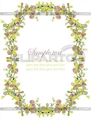 День Св. Патрика - рамка из клевера Векторный клипарт ID 3128700.