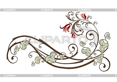 Rocznika element projektu z kwiaty i bluszcz | Klipart wektorowy |ID 3045806