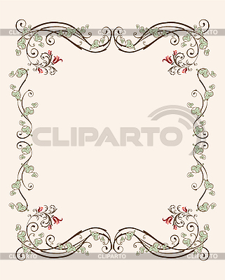 Floraler Rahmen mit Tulpen | Stock Vektorgrafik |ID 3045810