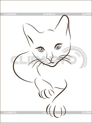 고양이 실루엣 | 벡터 클립 아트 |ID 3051416