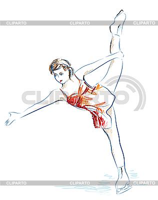 Damen Eiskunstlauf | Stock Vektorgrafik |ID 3053737