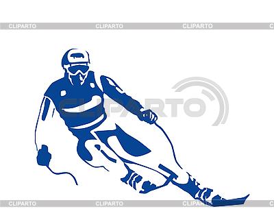 Silhouette des Skifahrers | Stock Vektorgrafik |ID 3053740