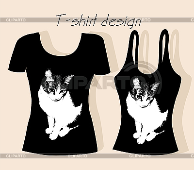 Shirt on Shirt Design Mit Katze      Oxana Reshetnyova