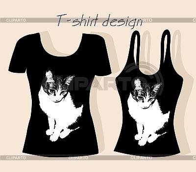 Shirt on Shirt Design Mit Katze      Oxana Reshetnyova