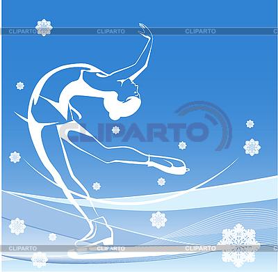 Damen Eiskunstlauf | Stock Vektorgrafik |ID 3059327