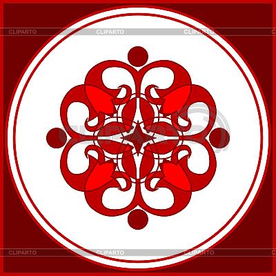 Red ozdobnych dingbat projektu | Klipart wektorowy |ID 3061215