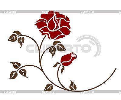 Red roses | Klipart wektorowy |ID 3061241