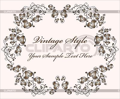 Vintage floral frame | Klipart wektorowy |ID 3061994