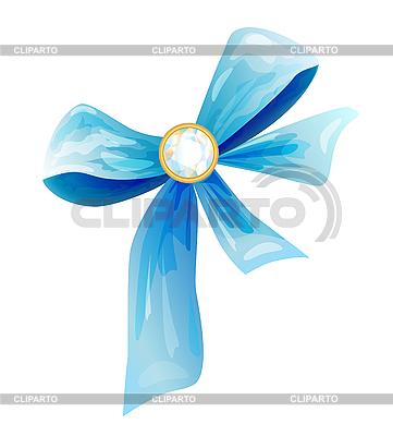 Niebieski łuk jedwab z diamentu | Klipart wektorowy |ID 3066405