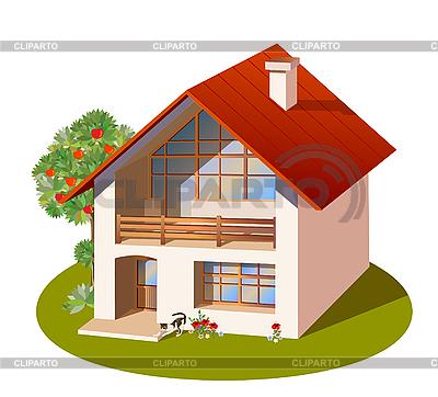 3D-Modell eines Einfamilienhauses | Stock Vektorgrafik |ID 3068214