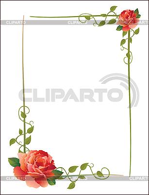 Ramka z różami | Klipart wektorowy |ID 3076865