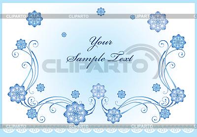 Зимняя открытка со снежинками | Векторный клипарт |ID 3078671