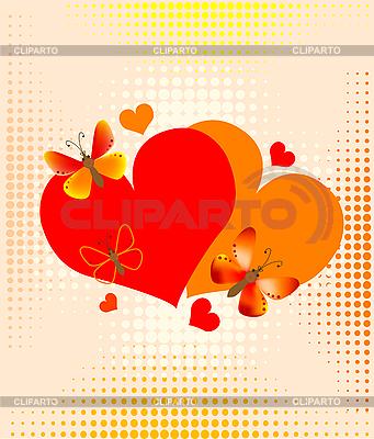Walentynki karta z serca | Klipart wektorowy |ID 3080305