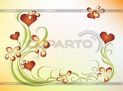 Valentinstag-Design mit Blumen | Stock Vektorgrafik |ID 3080319