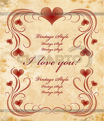 Valentinsgrußkarte | Stock Vektorgrafik |ID 3080323