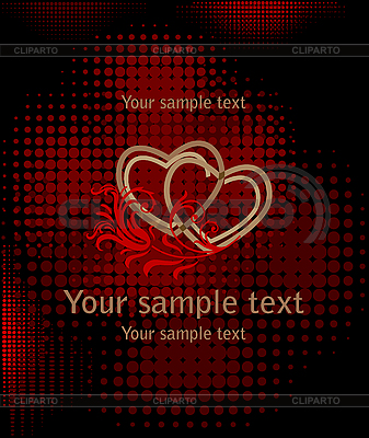 Serca na ciemnym czerwonym | Klipart wektorowy |ID 3082008