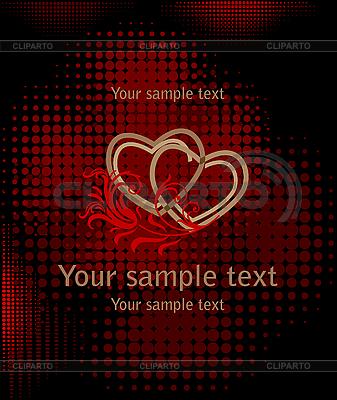 Herzen auf dem dunkelrotem | Stock Vektorgrafik |ID 3082008