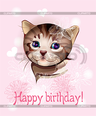 Felicidades Natha 3082387-happy-birthday-greeting-card-with-little-kitten