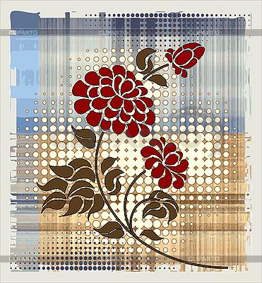 Цветы в коробке на белом фоне 44