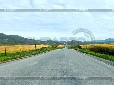 Straße zu den Bergen | Foto mit hoher Auflösung |ID 3045400