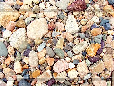 Разноцветные речные камни и галька | Фото большого размера |ID 3045440