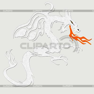 Weißer Drache | Illustration mit hoher Auflösung |ID 3049773