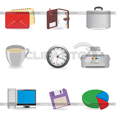 Office icons | Klipart wektorowy |ID 3045564