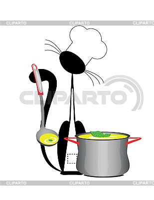 Katze-Koch | Stock Vektorgrafik |ID 3047070