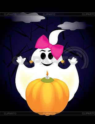 Geist in der Halloween-Nacht | Stock Vektorgrafik |ID 3047303