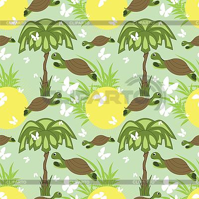 Nahtloses Muster mit Schildkröten | Stock Vektorgrafik |ID 3124272