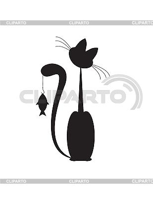 клипарт векторный кот: