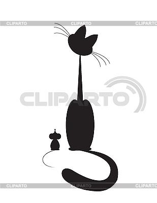 고양이와 쥐 | 벡터 클립 아트 |ID 3134587