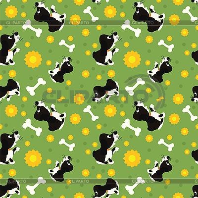 Nahtloses Muster von spielenden Hunden | Stock Vektorgrafik |ID 3148968